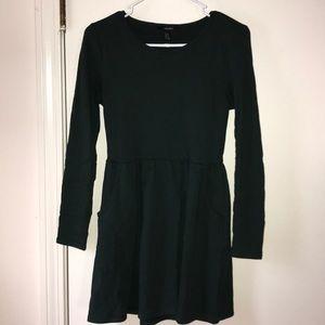 Long sleeved sweater dress